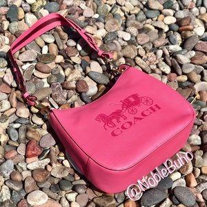 LAST CHANCE COACH Jes Hobo Shoulder Bag Pink Ruby